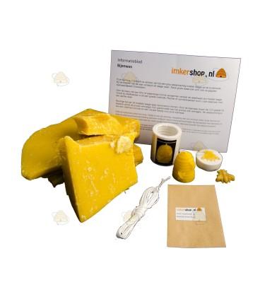 Starterspakket 'basic' bijenwaskaarsen maken bijtje