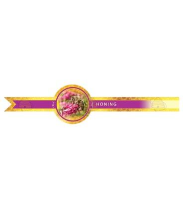 Sluitzegel roze lang voor 2 zijden over het deksel