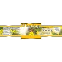 Honingetiket geel breed