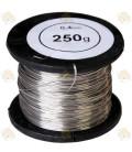 RVS draad 250 gr  0,4 mm