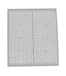 Spaarkast koninginnerooster aluminium geperforeerd 47 x 41 cm