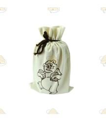Tasje beertje voor honingpot (van katoen)