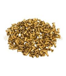 Oogjes 1000 st. 6x3 geel koper (messing)