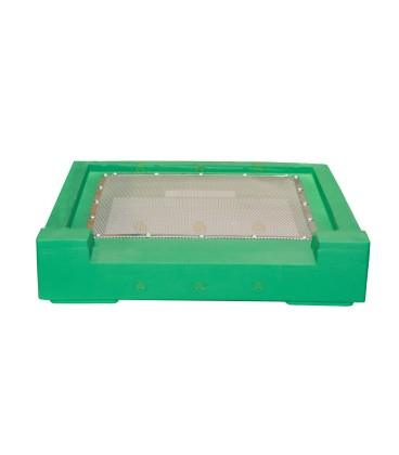 Bodem spaarkast groen gelakt polystyreen