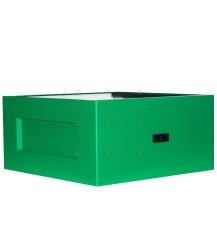 Broedkamer spaarkast groen gelakt polystyreen (met extra vliegopeningen)
