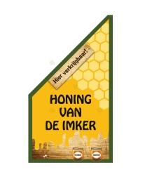 """Kioskvlag """"Honing van de imker"""", in rood of groen"""