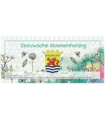 Aquarel Zeeuwse bloemenhoning etiket (rechthoekig)