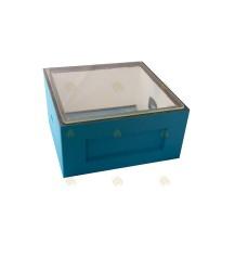 Polystyreen kast glazen dekplank 456 x 456 mm