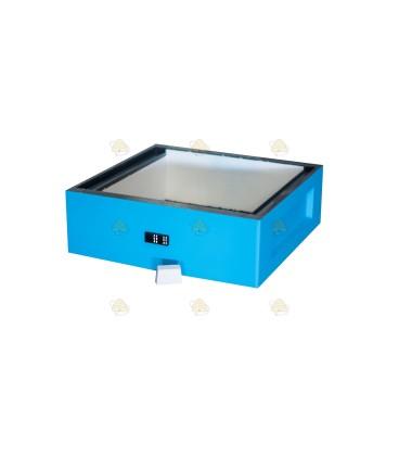 Honingkamer spaarkast blauw gelakt polystyreen