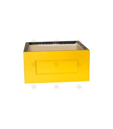 Broedkamer spaarkast geel gelakt polystyreen (zonder extra vliegopeningen)