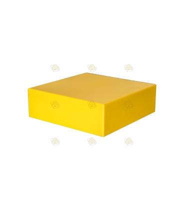 Dak spaarkast geel gelakt polystyreen