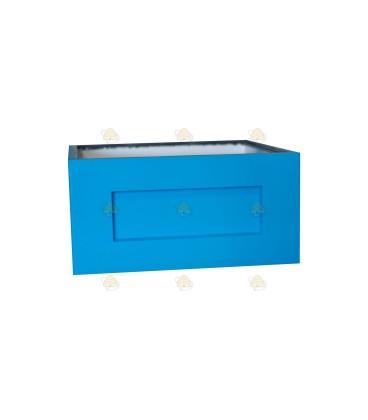 Broedkamer spaarkast blauw gelakt polystyreen (zonder extra vliegopeningen)