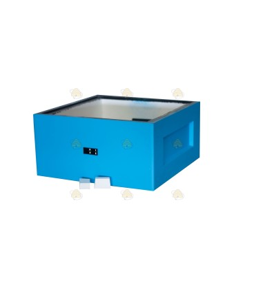 Broedkamer spaarkast blauw gelakt polystyreen (met extra vliegopeningen)
