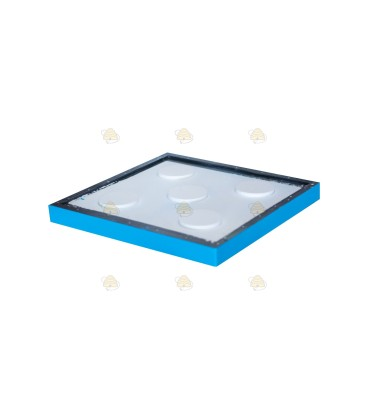 Tussenbodem spaarkast blauw gelakt polystyreen