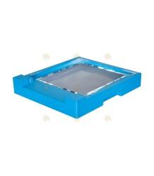 Bodem spaarkast blauw gelakt polystyreen met varroalade