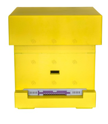 Spaarkast Starter geel gelakt polystyreen