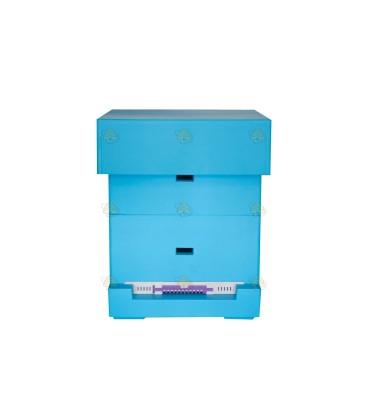 Spaarkast Easy blauw gelakt polystyreen BeeFun