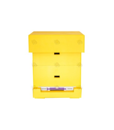 Spaarkast Easy BeeFun, geel gelakt polystyreen