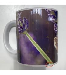 Tweedekans: Mok/beker bij bezoekt lavendelveld