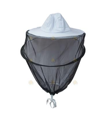 Imkerkap Deluxe BeeFun met gaas rondom (hoed & afstandsring)