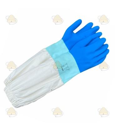 Handschoenen rubber en katoen Deluxe
