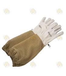 Handschoenen AirFree kaki (leer met ventilatie)