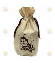 Tasje met bijtje voor honingpot (van katoen)