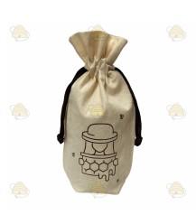 Tasje met imker voor om honingpot