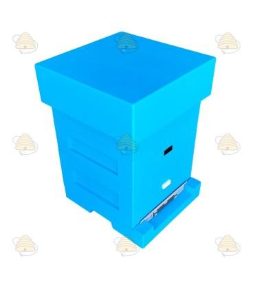 Spaarkast blauw gelakt polystyreen BeeFun