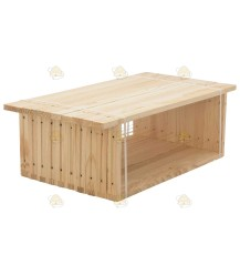 Simplex honingkamer ramen gemonteerd (ZZ) grenen horizontaal set