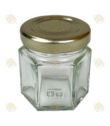 45 ml of 50 gram honingpot zonder deksel, hexagonaal model (6-hoekig)