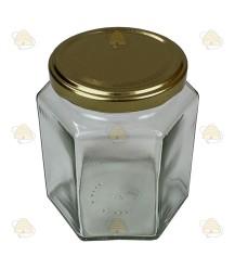 Hexagonale pot 390ml / 500g, met deksel