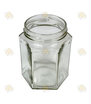 278 ml / 350 gr zonder deksel, hexagonaal, zeshoekig