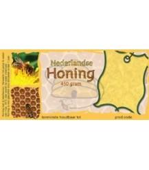 Honingetiket raat voor 450 gr met of zonder soortnaam