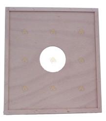 Spaarkast houten dekplank 47,2 x 42,1 cm (met / zonder voeropening)