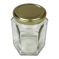 Zeskantige hexagonale honing potten